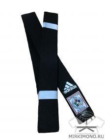 """Пояс для дзюдо """"Adidas"""" чёрный IJF"""