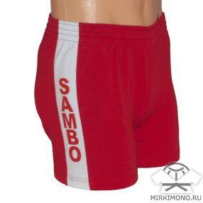 Шорты для Самбо - цвет красный