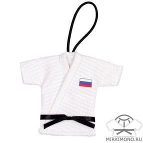 """Сувенирное кимоно """"Judo"""" - подвеска для автомобиля"""