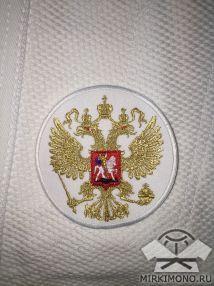 """Шеврон """"Герб России"""" белый"""