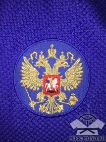"""Шеврон """"Герб России"""" синий"""