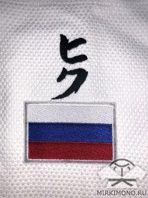 "Шеврон ""Флаг России"" белый"