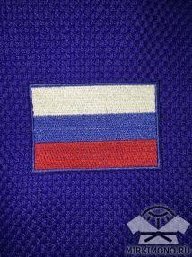 """Шеврон на кимоно """"Флаг России"""" синий"""