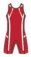 """Трико для борьбы """"Asics"""" Wrestling Singlet красное (157516)"""