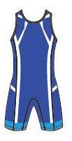 "Трико для борьбы ""Asics"" Wrestling Singlet синее (157516)"