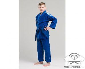 """Кимоно для детей """"Adidas"""" Club J350 синее"""