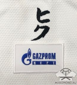"Шеврон ""Газпром"" белый"