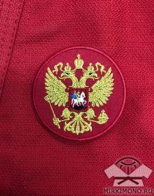 """Шеврон """"Герб России"""" красный"""