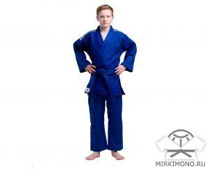 """Кимоно подростковое """"Adidas"""" Training J500 синее"""