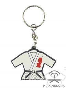 Брелок дзюдо кимоно белый (25)
